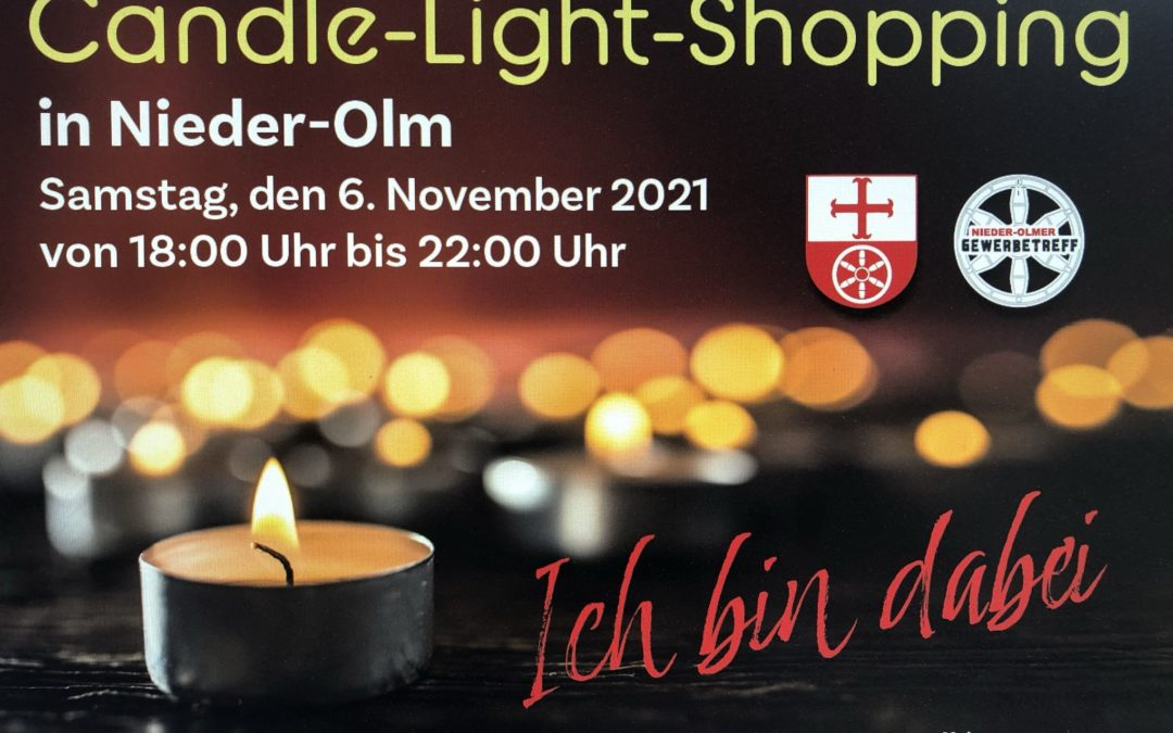 Einkaufserlebnis im Kerzenschein: Wer macht mit – beim stimmungsvollen Candle-Light-Shopping in unserer Heimatstadt?